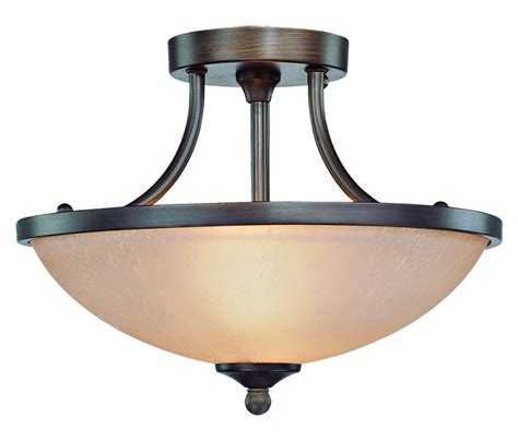 Craftmade Tfv90 Bz Bronze Ceiling Craftmade Two Light Bronze Bowl Semi Flush Mount Bronze