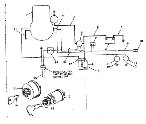 lawn tractor ignition switch diagram free