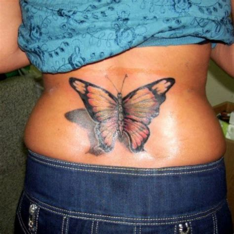 butterfly tattoo on lower back butterfly tattoos and designs page 417