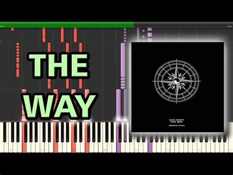 piano tutorial way way the way zack hemsey synthesia piano tutorial youtube