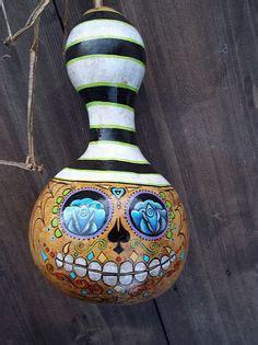 calaverita / sugar skull gourd | gourdious/k | pinterest