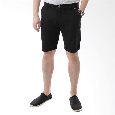 Celana Chino Hitam By Daino Store jual elfs shop celana pendek chino list hitam