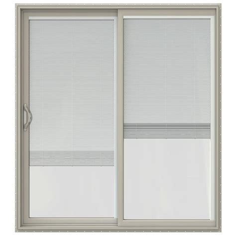 Vinyl Patio Door Jeld Wen 72 In X 80 In V 2500 Series Vinyl Sliding Patio Door With Blinds Jw1815 00197 The