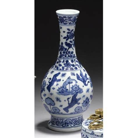 Ming Vase by A Blue And White Crane Vase Ming Dynasty Jiajing