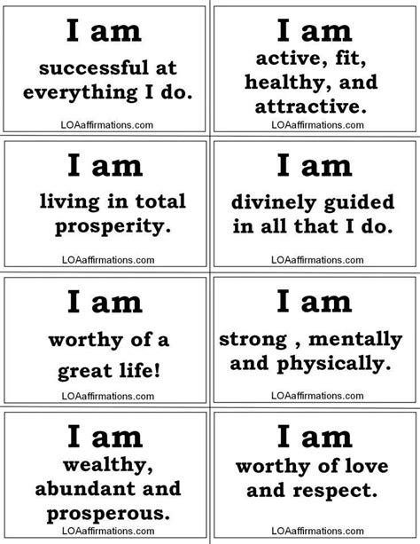 printable list of quotes daily affirmations affirmations for growth pinterest