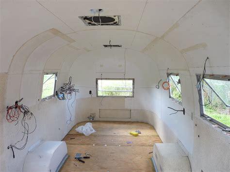 midllife crisis  airstream restoration interior