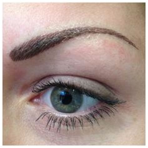tattoo eyebrows sheffield before immediately after and one week after permanent