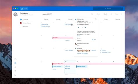 calendar design software for mac microsoft is redesigning outlook for mac and windows the