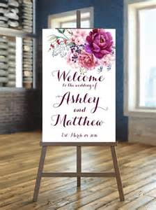 Wedding Signage Templates by Printable Wedding Sign Welcome Wedding Sign Floral
