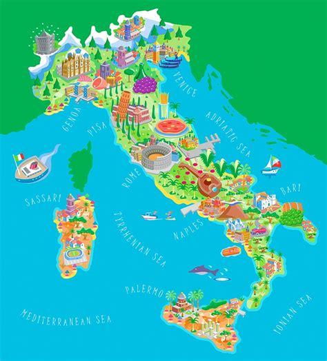 di talia italia mappa turistica