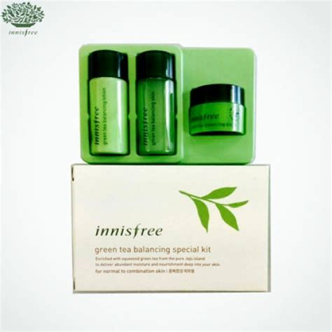 Harga Innisfree Green Tea Balancing Special Kit box korea mini innisfree green tea balancing