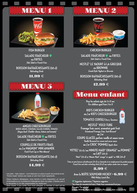 restaurants with light menus restaurant en coulisse menu dlp guide disneyland