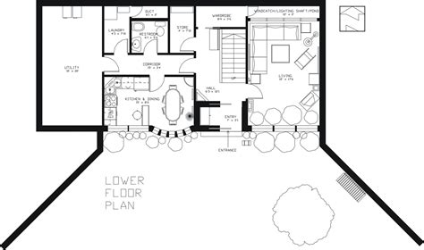 earth shelter underground floor plans berm home building plans find house plans