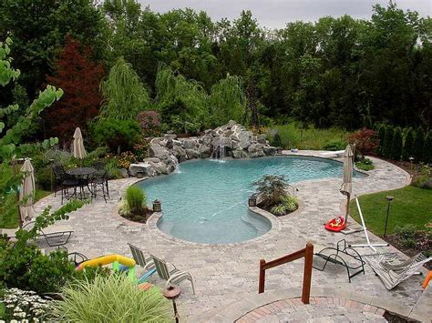 swimming pool landscaping pictures triyae com pictures of backyard pool landscaping