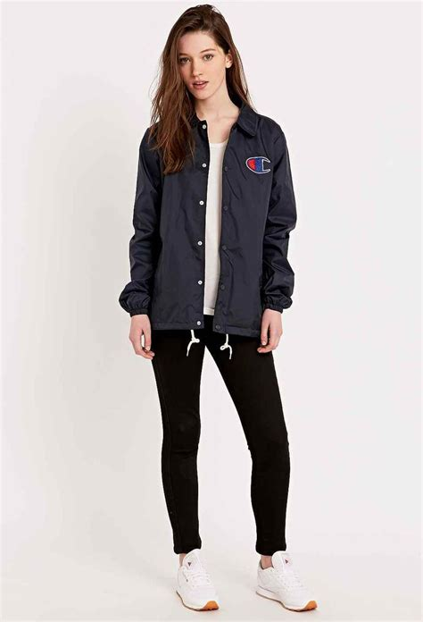 Jaket Sweater Drop Dead Navy chion coaches jacket in navy aaaa