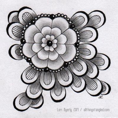 zentangle pattern dyon tangle taghpodz dyon with some perfs doodles