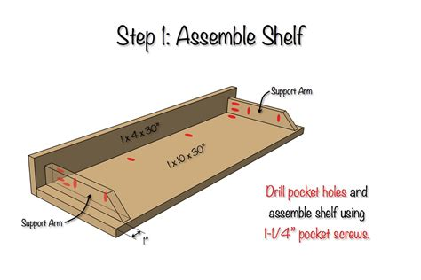 Free Floating Shelf Plans by Diy Secret Floating Shelf Free Plans Rogue Engineer