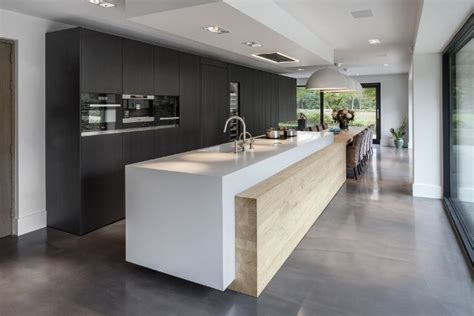 kitchen island length large island with wood feature which runs the entire