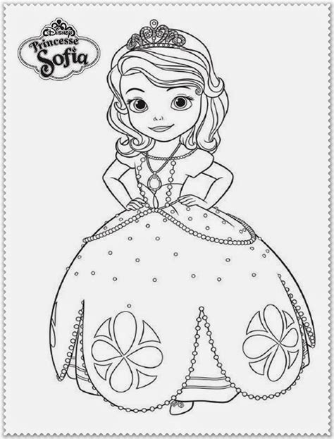 sofia the first free colouring pages