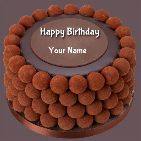 write   birthday wishes chocolate balls cake
