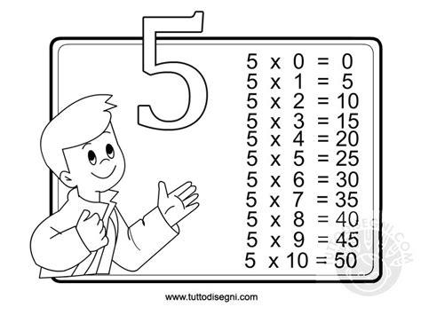 esercizi sul testo della canzone classe a colori la canzone della tabellina 5
