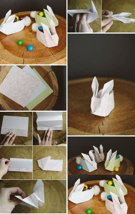 Do It Yourself Paper Crafts - how to fold paper craft origami bunny step by step diy