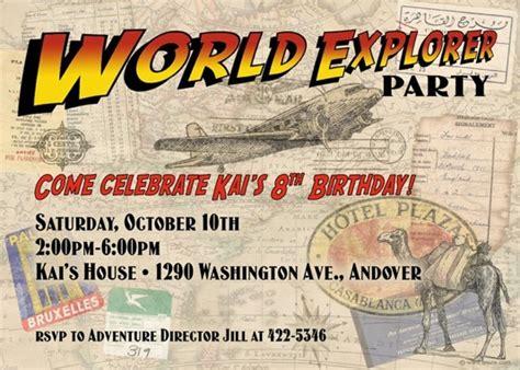 indiana jones birthday invitations printable world explorer indiana jones style invitations