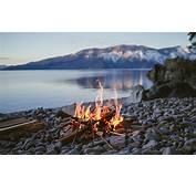 Fire Campfire Lake Stones Stone Depth Of Field