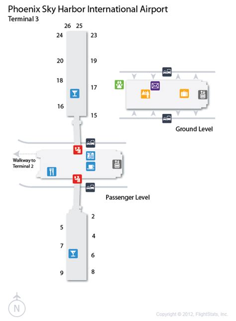 phx airport map sky harbor airport terminal map