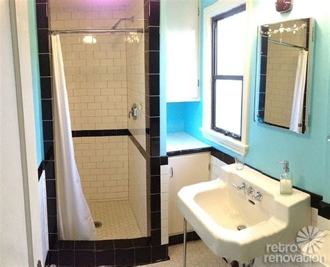 1930s Bathroom Ideas Dave And Fran S Beautiful Functional Black And White Tile