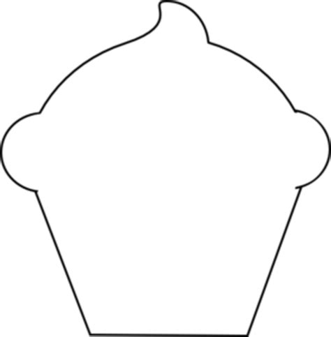 Black And White Outline Of by Cupcake Outline Clipart Black And White Cliparts Co