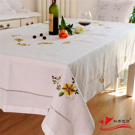 hetaiyiyuan embroidery rustic dining tablecloth