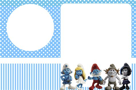 Smurf Invitation Templates smurfs invitations and free printables for boys