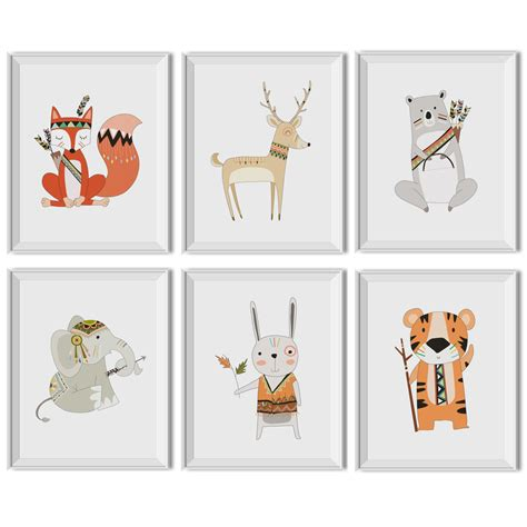 Woodland Animal Nursery Decor Woodland Nursery Boy Woodland Nursery Decor Boy Tribal