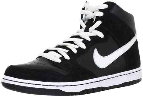 black and white high top sneakers nike hi tops skateboard dunk national milk producers