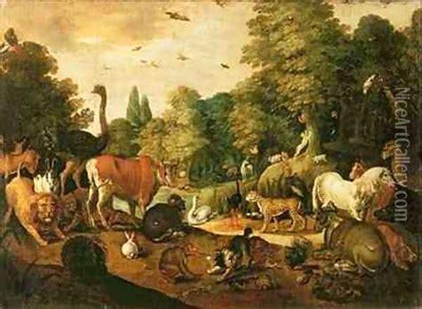garden  eden oil painting reproduction  jacob bouttats