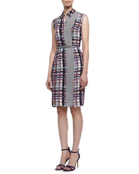 Plaid Sleeveless Dress nonoo plaid sleeveless jacket dress