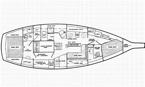 sailboat floor plans the endeavour 43 sailboat bluewaterboats org
