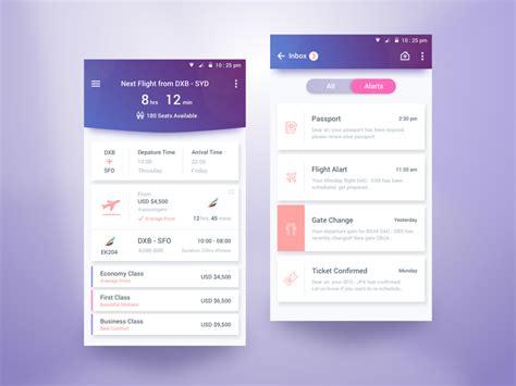 interior design service app flight schedule app