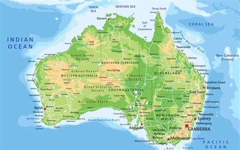 australia geographical features map wallpapers map of australia 4k geographical map