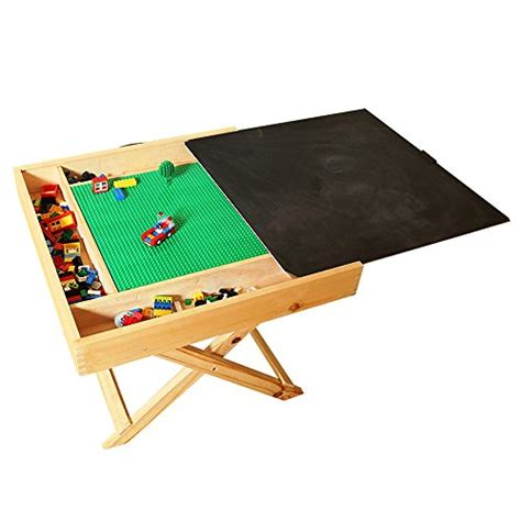 wooden multi activity table wooden lego compatible multi activity table portable