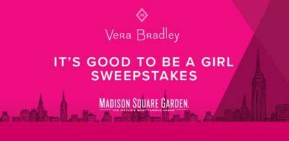 Vera Bradley Sweepstakes - vera bradley it s good to be a girl sweepstakes sun sweeps