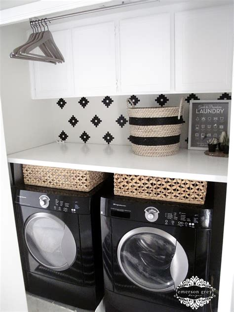 black hers for laundry laundry room makeover ideas popsugar home