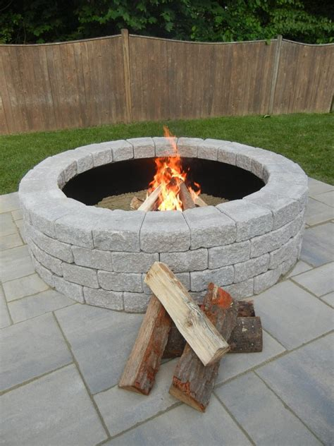 Outside Firepit Half Outdoor Pit Kit At Unilock Unilock Groupon