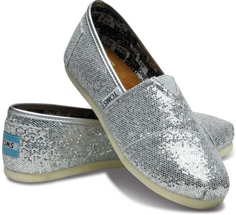 toms glitter shoes for toms shoes for classic silver glitter landau store