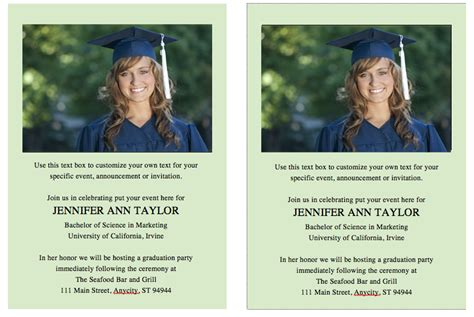 graduation invitation templates free word template for graduation invites