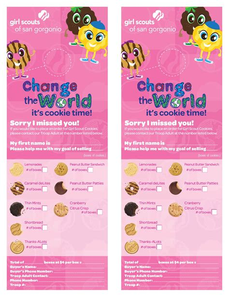 Girl Scout Cookie Flyer Template Google Search Girl Scouts Pinterest Girl Scout Cookies Cookie Flyer Template Free