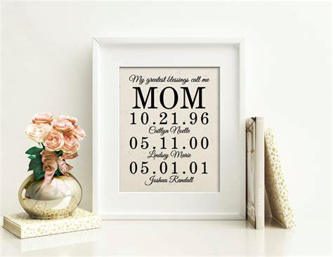 personalized gift for mom birthday gift for dad father of