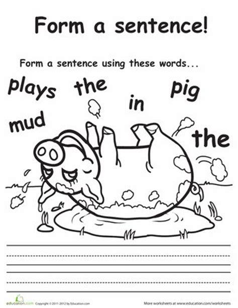 Kindergarten Sentence Building Worksheets by 25 Best Ideas About Sentence Building On Make