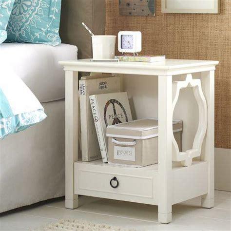 white bedroom side tables elsie bedside table pbteen